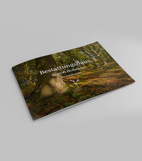Flyer Bestattungshaus Hofmann Titelseite