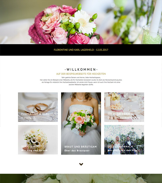 Hochzeitswebseite, Webseite Hochzeit, Heirat