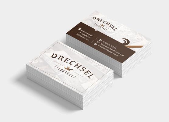 Visitenkarten für Tischlerei Drechsel